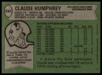 1978 Topps #230  Claude Humphrey  Back Thumbnail