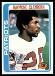 1978 Topps #158  Raymond Clayborn  Front Thumbnail