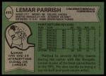 1978 Topps #455  Lemar Parrish  Back Thumbnail