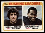 1978 Topps #333   -  Walter Payton / Mark van Eeghen Rushing Leaders Front Thumbnail