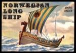 1955 Topps Rails & Sails #136   Norwegian Long Ship Front Thumbnail