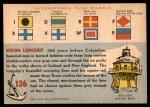 1955 Topps Rails & Sails #136   Norwegian Long Ship Back Thumbnail