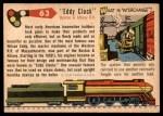1955 Topps Rails & Sails #63   Eddy Clock Back Thumbnail