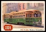 1955 Topps Rails & Sails #23   PCC Trolley Car Front Thumbnail