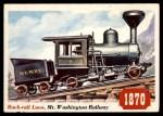 1955 Topps Rails & Sails #27   Rack-Rail Locomotive Front Thumbnail