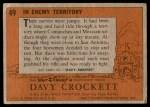 1956 Topps Davy Crockett #49   In Enemy Territory  Back Thumbnail