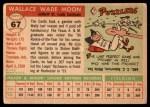 1955 Topps #67 xDOT  Wally Moon  Back Thumbnail