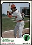 1973 Topps #290  Cesar Cedeno  Front Thumbnail