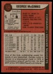 1979 Topps #125  George McGinnis  Back Thumbnail