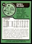 1977 Topps #94  Don Buse  Back Thumbnail