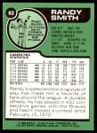 1977 Topps #82  Randy Smith  Back Thumbnail