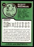 1977 Topps #17  Scott Wedman  Back Thumbnail
