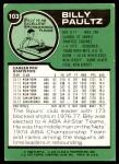 1977 Topps #103  Billy Paultz  Back Thumbnail