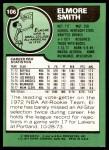 1977 Topps #106  Elmore Smith  Back Thumbnail
