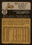 1973 Topps #539  Tom Murphy  Back Thumbnail