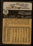 1973 Topps #160  Jim Palmer  Back Thumbnail