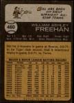 1973 Topps #460  Bill Freehan  Back Thumbnail