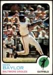 1973 Topps #384  Don Baylor  Front Thumbnail