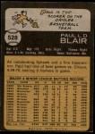 1973 Topps #528  Paul Blair  Back Thumbnail