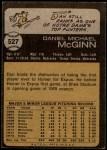 1973 Topps #527  Dan McGinn  Back Thumbnail