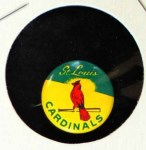 1965 Guys Potato Chip Pin #18   St. Louis Cardinals Front Thumbnail