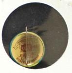 1965 Guys Potato Chip Pin #14   New York Mets Back Thumbnail