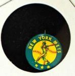 1965 Guys Potato Chip Pin #14   New York Mets Front Thumbnail