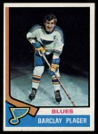 1974 Topps #87  Barclay Plager  Front Thumbnail