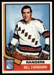 1974 Topps #231  Bill Fairbairn  Front Thumbnail