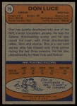 1974 Topps #79  Don Luce  Back Thumbnail