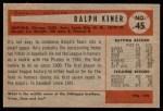 1954 Bowman #45  Ralph Kiner  Back Thumbnail
