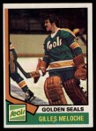 1974 Topps #205  Gilles Meloche  Front Thumbnail
