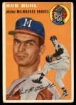 1954 Topps #210  Bob Buhl  Front Thumbnail