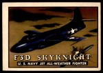 1952 Topps Wings #22   F3D Skynight Front Thumbnail