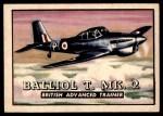 1952 Topps Wings #17   Balliol T. MK.2 Front Thumbnail