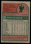 1975 Topps #242  Jay Johnstone  Back Thumbnail