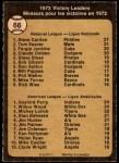 1973 O-Pee-Chee #66   -  Steve Carlton / Gaylord Perry / Wilbur Wood Victory Leaders Back Thumbnail