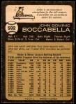 1973 O-Pee-Chee #592  John Boccabella  Back Thumbnail