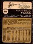 1973 O-Pee-Chee #226  Ray Fosse  Back Thumbnail