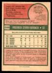 1975 O-Pee-Chee #588  Rick Auerbach  Back Thumbnail