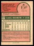 1975 O-Pee-Chee #647  Claudell Washington  Back Thumbnail