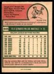 1975 O-Pee-Chee #445  Felix Millan  Back Thumbnail