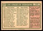 1975 O-Pee-Chee #361   -  Walter Alston Dodgers Team Checklist Back Thumbnail
