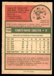 1975 O-Pee-Chee #125  Ken Singleton  Back Thumbnail