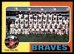 1975 O-Pee-Chee #589   -  Clyde King Braves Team Checklist Front Thumbnail