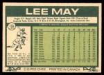 1977 O-Pee-Chee #125  Lee May  Back Thumbnail