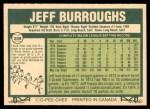 1977 O-Pee-Chee #209  Jeff Burroughs  Back Thumbnail