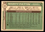 1976 O-Pee-Chee #492  Marty Pattin  Back Thumbnail