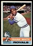 1976 O-Pee-Chee #369  Frank White  Front Thumbnail