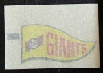 1966 Topps Rub Offs    San Francisco Giants Pennant Back Thumbnail